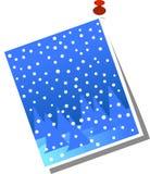 Tarjeta de Navidad fijada aislada en blanco Imagen de archivo libre de regalías