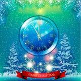Tarjeta de Navidad Fondo Imagen de archivo libre de regalías