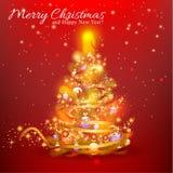 Tarjeta de Navidad Fondo Fotografía de archivo libre de regalías