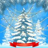 Tarjeta de Navidad Fondo Imagenes de archivo