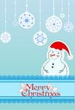 Tarjeta de Navidad Fondo Foto de archivo