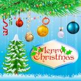 Tarjeta de Navidad Fondo Imagen de archivo