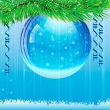 Tarjeta de Navidad Fondo Foto de archivo libre de regalías
