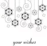 Tarjeta de Navidad - fondo de los copos de nieve Stock de ilustración