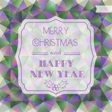 Tarjeta de Navidad Fondo del polígono Etiqueta de la Navidad Foto de archivo libre de regalías