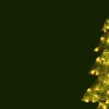 Tarjeta de Navidad - fondo verde del árbol Fotos de archivo libres de regalías
