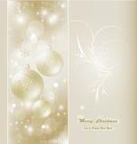 Tarjeta de Navidad hermosa Fotografía de archivo