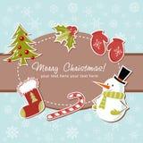 Tarjeta de Navidad hermosa Fotos de archivo libres de regalías
