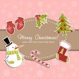 Tarjeta de Navidad hermosa Imagen de archivo libre de regalías