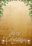 Tarjeta de Navidad hermosa - cartel Foto de archivo libre de regalías