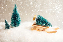 Tarjeta de Navidad hermosa del juguete Fotos de archivo