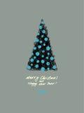 Tarjeta de Navidad Ilustración del vector Foto de archivo