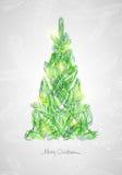 Tarjeta de Navidad Ilustración del vector Fotos de archivo