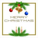 Tarjeta de Navidad de la plantilla Fotografía de archivo
