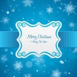 Tarjeta de Navidad label libre illustration