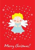 Tarjeta de Navidad linda del ángel Fotografía de archivo libre de regalías