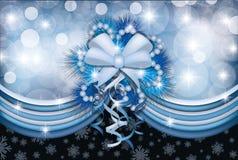 Tarjeta de Navidad mágica Imagenes de archivo