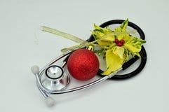 Tarjeta de Navidad médica Fotos de archivo