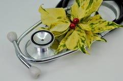 Tarjeta de Navidad médica Imagen de archivo libre de regalías