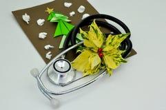 Tarjeta de Navidad médica Foto de archivo
