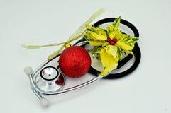 Tarjeta de Navidad médica Imagenes de archivo
