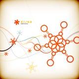 Tarjeta de Navidad mínima colorida abstracta Fotografía de archivo libre de regalías