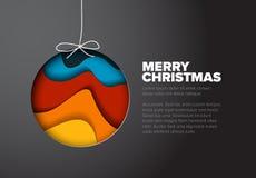 Tarjeta de Navidad minimalistic moderna del vector Foto de archivo libre de regalías