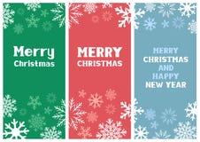 Tarjeta de Navidad multicolora Foto de archivo