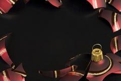 Tarjeta de Navidad negra Fotos de archivo libres de regalías