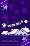 Tarjeta de Navidad púrpura Fotos de archivo libres de regalías