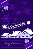Tarjeta de Navidad púrpura libre illustration