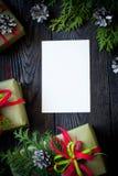 Tarjeta de Navidad para los saludos Imagen de archivo