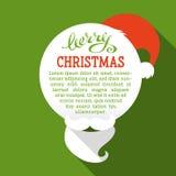 Tarjeta de Navidad plana con la sombra larga stock de ilustración