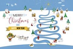 Tarjeta de Navidad de Polo Norte ilustración del vector