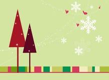 Tarjeta de Navidad retra Fotos de archivo libres de regalías
