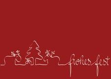 Tarjeta de Navidad roja Fotografía de archivo