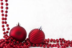 Tarjeta de Navidad roja Imagen de archivo libre de regalías