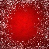 Tarjeta de Navidad roja Fotografía de archivo libre de regalías