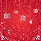 Tarjeta de Navidad roja Imágenes de archivo libres de regalías
