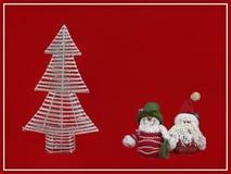 Tarjeta de Navidad roja Foto de archivo libre de regalías