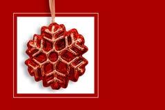 Tarjeta de Navidad roja Foto de archivo