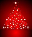 Tarjeta de Navidad roja abstracta ilustración del vector