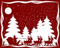 Tarjeta de Navidad roja y blanca Imagen de archivo