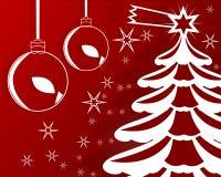 Tarjeta de Navidad roja y blanca Imagenes de archivo