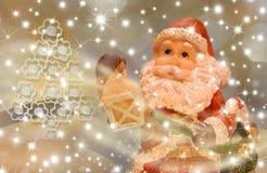 Tarjeta de Navidad, Santa Eve Imagen de archivo libre de regalías