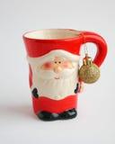 Tarjeta de Navidad: Santa Mug roja - fotos comunes Fotos de archivo