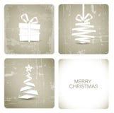 Tarjeta de Navidad simple del grunge Imagen de archivo