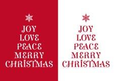 Tarjeta de Navidad, vector Imagen de archivo