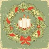 Tarjeta de Navidad. Vendimia Fotografía de archivo libre de regalías