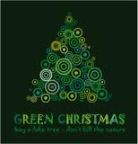 Tarjeta de Navidad verde Foto de archivo